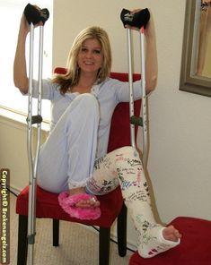 Crochet Slipper Boots, Crochet Slippers, Milwaukee Brace, Full Body Cast, Samurai, Long Leg Cast, Crutches, Broken Leg, It Cast