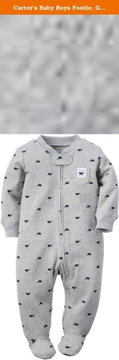 Carters Baby Boys Footie, Gray, 9 Months. Carters is the leading brand of childrens clothing, gifts and accessories in America, selling more than 10 products for every child born in the u.S. Their designs are based on a heritage of quality and innovation that has earned them the trust of generations of families.