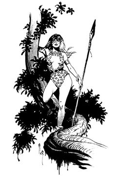 """spicywarhoon: """"Sheena, Queen of the Jungle by Mark Schultz """" Character Costumes, Character Art, Jungle Drawing, Tarzan Of The Apes, Pin Up Illustration, Illustrations, Cartoon Design, Female Art, Amazing Art"""