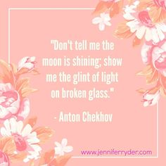 Happy Words of Wisdom Wednesday! This week's quote is from #AntonChekhov  The first time I heard this classic quote was at my first @rwaustralia Conference back in 2013. 'Showing' and not 'telling' in my writing I found so tough initially, but after a few online courses over the years (as well as simply writing, writing and more writing), it has become second nature. It also helps that I have a super talented editor  who kicks my butt when I need to SHOW more.  #WordsOfWisdomWednesday