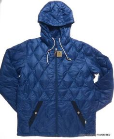 BURTON-Men-039-s-size-XL-Blue-Dorset-Down-Jacket-Hooded-Light-Winter-Fall-Coat-large
