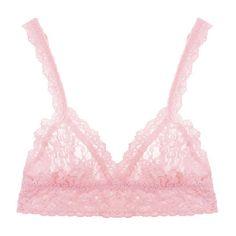 Hanky Panky Crossover bralette ($46) ❤ liked on Polyvore featuring intimates, bras, bra, lingerie, pink, bliss pink, lace bralette bra, pink lace lingerie, lacy bras e pink bra
