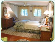 Room 4: Traditional Room  One of our larger rooms with a queen bed, antique sink, digital TV/DVD, and wide pine floor with views of Merriman State Forest and the Moat Mountains. A large private tub & shower bath are two steps across the hall (robes provided).
