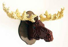 Lego moose head
