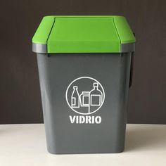 Contenedor de residuos Easymax de 45 litros de capacidad, especial para la separación de vidrios. Canning, Waste Container, Recycling Bins, Glass, Home Canning, Conservation