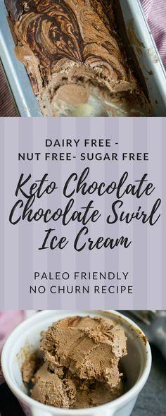 Chocolate Chocolate Swirl Dairy Free Keto Ice Cream (Nut Free, Paleo Friendly) • The Castaway Kitchen