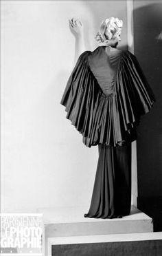 Madam Gres Evening dress at Alix Barton. Paris, October 1937.