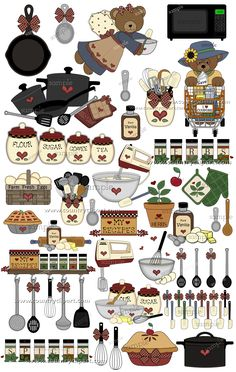 """Kitchen Clip Art 