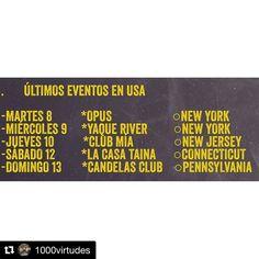 #Repost @1000virtudes  El que no me fue a ver no me verá por un largo tiempo  últimos eventos aquí en USA