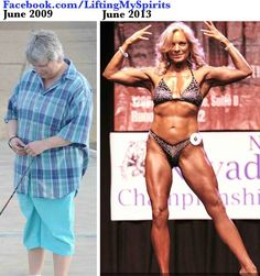 fitness-and-fierceness:  Tammy White! Her transformation has motivated thousands! ……She recently competed at the NPC Nevada State. Be sure to follow this amazing woman's page…… Lifting My Spirits on Fb    DANG