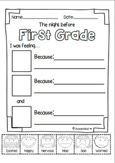 Back to School writing activities and craft for Kindergarten, First and Second Grade!