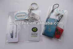 Full color printed custom keychain plastic card with keyring