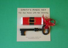 Santa's Magic Key Repurposed Jenga Block by EmbellishCraft on Etsy Christmas Craft Show, Christmas Sewing, Christmas Signs, Diy Christmas Ornaments, Holiday Crafts, Santa Ornaments, Christmas Snowman, Christmas Stuff, Holiday Ideas