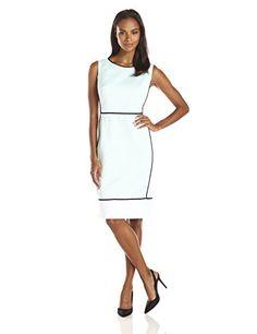 Jones New York Women's Colorblock Sheath Dress, Skylight, 4 Jones New York http://www.amazon.com/dp/B00WOCVD80/ref=cm_sw_r_pi_dp_.fw8vb12776AY