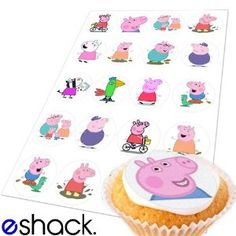 Peppa Pig Edible Cake Toppers (Birthday Cupcake Topper by eShack)
