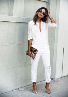 Complete White on White Outfits For This Summer0071