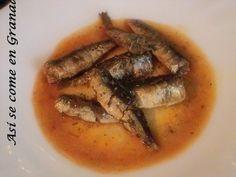 Así se come en Granada.: Sardina en adobo