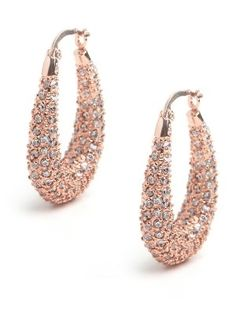 Rose Pave Hoops - Earrings - FUNCTION: Shop All - StyleSays