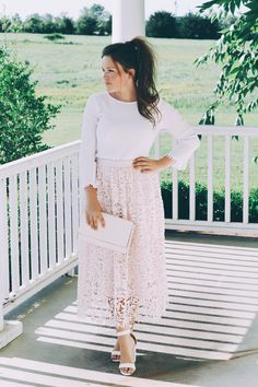 Blush and Lace Outfit Inspo by @courtneytoliver on @shesintentional