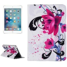 For+iPad+mini+4+ENKAY+Flower+Pattern+Smart+Cover+Leather+Case+with+Holder,+Card+Slots+&+Wallet