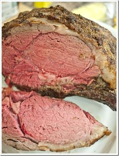 The Perfect Prime Rib Roast - Looks pretty close to perfect to me. And, it was so tender that you could almost cut it with a fork! Like buttah!