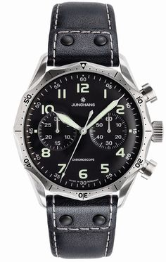 Junghans Meister Pilot Chronscope Watch Black Dial Numerals by…