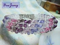 Tutorial : Donut Crystal Bracelet #1 Level : Intermediate to Advance I make it advance level because you will work with 8 lines in this project. This can be troublesome for the beginners. But once, you figure out how to do it, it's a piece of cake. Warning : Heavy pictures under cut. From real…