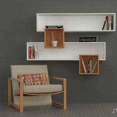 Salad Wall Shelves White Walnut by Decortie Tv Unit Furniture, Solid Wood Furniture, Furniture Design, Home Office Decor, Diy Home Decor, Room Decor, Study Table Designs, Etagere Design, Unique Shelves