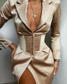 Online Shop Yissang 2019 New Autumn Women Dresses Elegant Professional Mini Woman Suits Dress Blazer Jacket Long Sleeve Outwear Outfit Look Fashion, High Fashion, Womens Fashion, Fashion Design, Fashion Bella, Trendy Fashion, Fashion Tips, Mode Chic, Blazer Dress