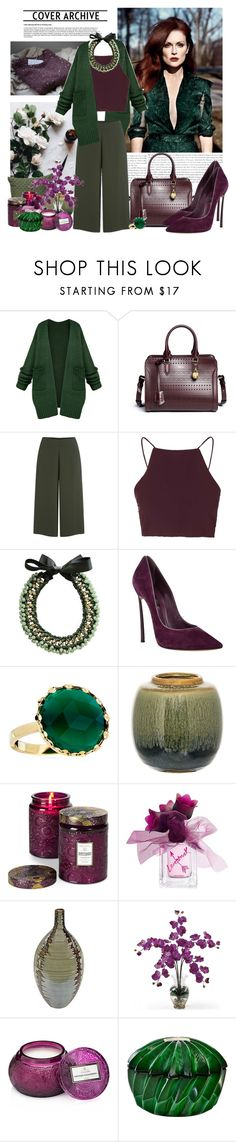 """Untitled #495"" by moni4e ❤ liked on Polyvore featuring JULIANNE, Alexander McQueen, Cameo, Topshop, Ricardo Rodriguez, Casadei, Lana, BoConcept, Bloomingville and Voluspa"