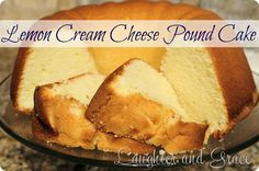 Lemon Cream Cheese Pound Cake *WARNING* If you're trying to lose weight or eat healthy or cut down on sweets…avert your eyes now! This cake is sooo good! Lemon Desserts, Lemon Recipes, Just Desserts, Delicious Desserts, Dessert Recipes, Dessert Ideas, Cake Ideas, Awesome Desserts, Lemon Cakes