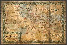 New The Hobbit The Desolation of Smaug Map of the Shire Poster   eBay