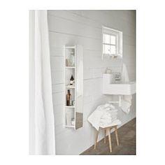 IKEA - BRICKAN, Spiegel mit Aufbewahrung, , Spiegel mit Sicherheitsfolie auf der Rückseite, die das Gefahrenrisiko durch splitterndes Glas mindert.