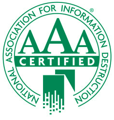 E-Waste Security is NAID AAA Certified for mobile hard drive destruction