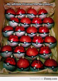 Pokeball Christmas ornaments!