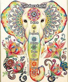 I understand, I see, I speak, I love, I do, I feel, I am and I am strong! #Chakra #HealingMySelf