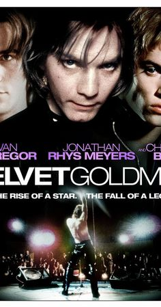 Directed by Todd Haynes.  With Ewan McGregor, Jonathan Rhys Meyers, Christian Bale, Toni Collette. In 1984, British journalist Arthur Stuart investigates the career of 1970s glam superstar Brian Slade, who was heavily influenced in his early years by hard-living and rebellious American singer Curt Wild.