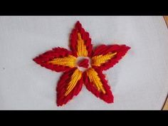 Hand Embroidery: Long and Short Separate Chain Stitch Hand Embroidery Work Designs, Basic Embroidery Stitches, Hand Embroidery Videos, Hand Embroidery Flowers, Embroidery Hoop Art, Embroidery Patterns, Simple Embroidery, Lazy Daisy Stitch, Chain Stitch