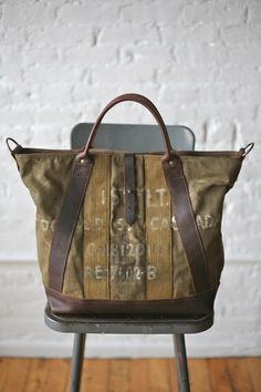 WWII era Military Canvas Weekend Bag FORESTBOUND