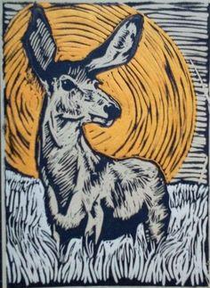 Deer Linocut - Google Search