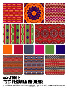 Peruvian Influence in textiles at Eztextiles