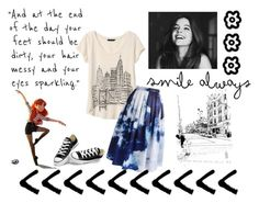 """Exploring a small town"" by arianna-781 ❤ liked on Polyvore featuring Banana Republic, Chicwish and Converse"