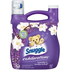 Snuggle 1326089 Exhilarations Fabric Softener Liquid - White Lavender & Sandalwood - for sale online Vanilla Orchid, Wild Orchid, Fabric Softener, Laundry Detergent, Smell Good, Snuggles, Cleaning Supplies, Things That Bounce, Conditioner