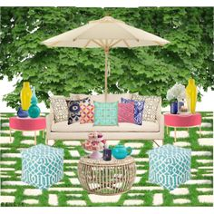"""Summer Patio Makeover"" by rere-renove on Polyvore"