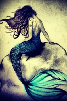 One of my favourite Mermaids for a tattoo design I've seen however I'm not sure where this would look good placed because of the rocks