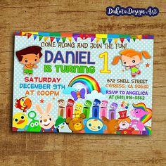 Item Description Baby First TV Birthday Invitation By Dakota Design Art Please Read Below