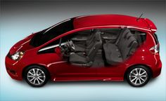 With 585 litres of cargo space, the Fit has room for 5 people, plus all of their stuff. 2013 Honda Fit, Space, Stylish, Fitness, Car, Model, People, Room, Floor Space