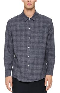 CWST - Sqrl Shirt: This navy plaid is no ordinary plaid – created from varying white stripes, it's got a subtle twist that makes it a little more interesting than a basic plaid.
