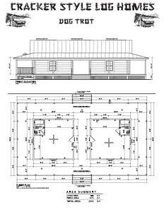 The dogtrot also known as a breezeway house dog run or for Small dog trot house plans