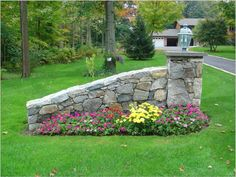 Unilock , stone and brick Wall and driveway entry pillar pictures